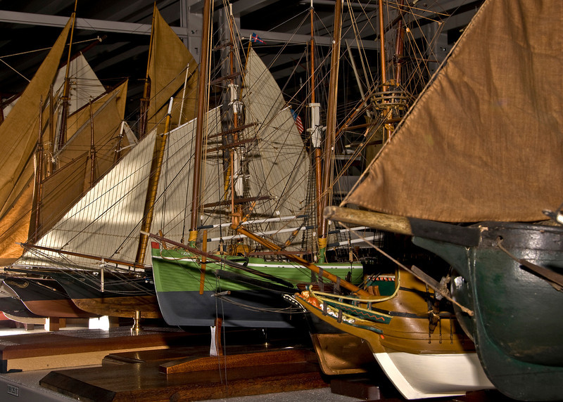 Ship models from the collection