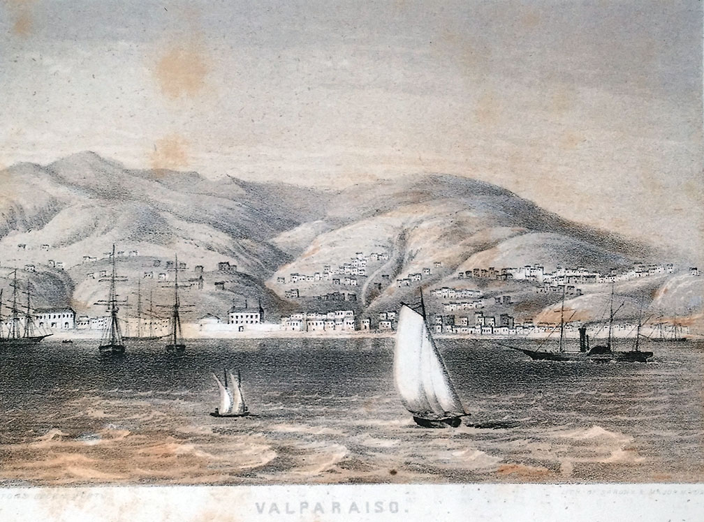 Shake, Rattle and Roll. The Ship IDA in Valparaiso, 1822.